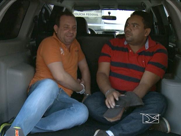 Ex-secretários municipais presos pela PF (Foto: Reprodução / TV Mirante)