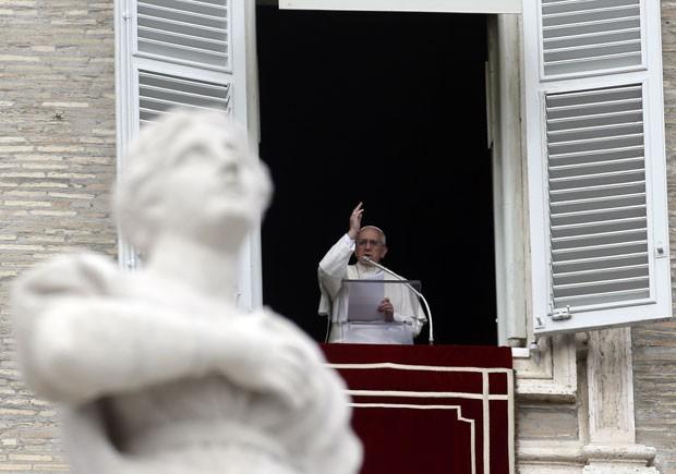 Papa disse que os fieis são 'atletas do espírito' (Foto: Gregorio Borgia/AP)