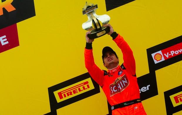 Marcos Gomes vitória Stock Car Cascavel (Foto: Duda Bairros / Stock Car)