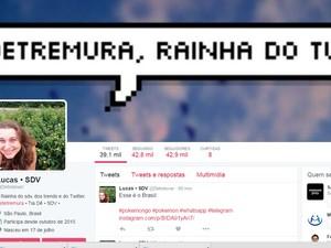 Rio-pretense tem fã-clube que criou página para ela no Twitter (Foto: Reprodução/Twitter)