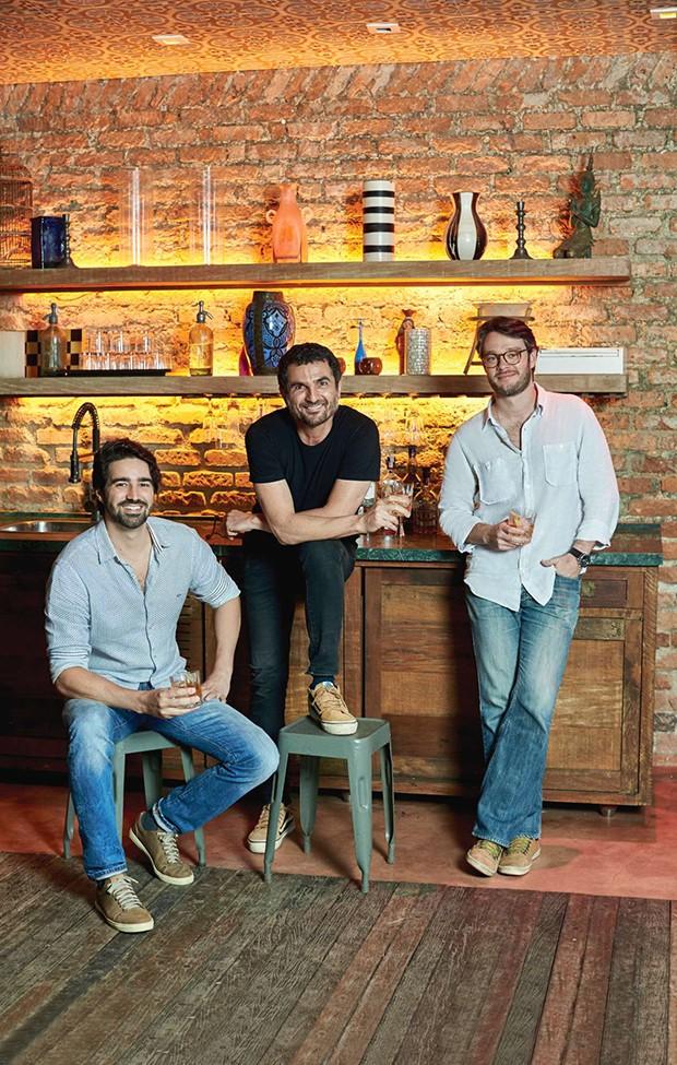 Mãos à obra Francisco Pellegrino, Cello Macedo e Luiz Neves são os principais nomes por trás da transformação do Jockey (Foto: Divulgação)