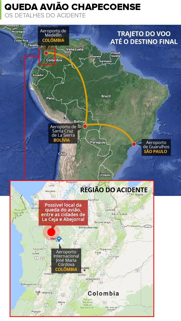 Info QUEDA AVIAO Chapecoense b (Foto: infoesporte)