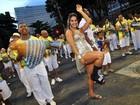 Mesmo com pé quebrado, Mayra Cardi vai a ensaio técnico no Rio