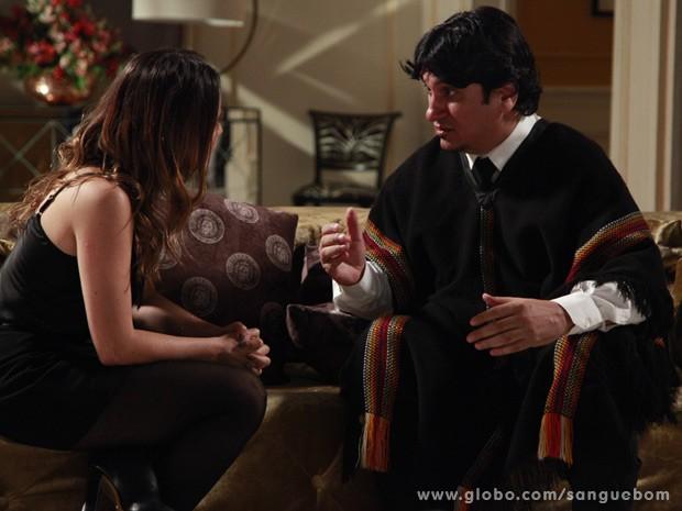 O mordomo diz que teve medo de ficar longe da filha (Foto: Ellen Soares / TV Globo)