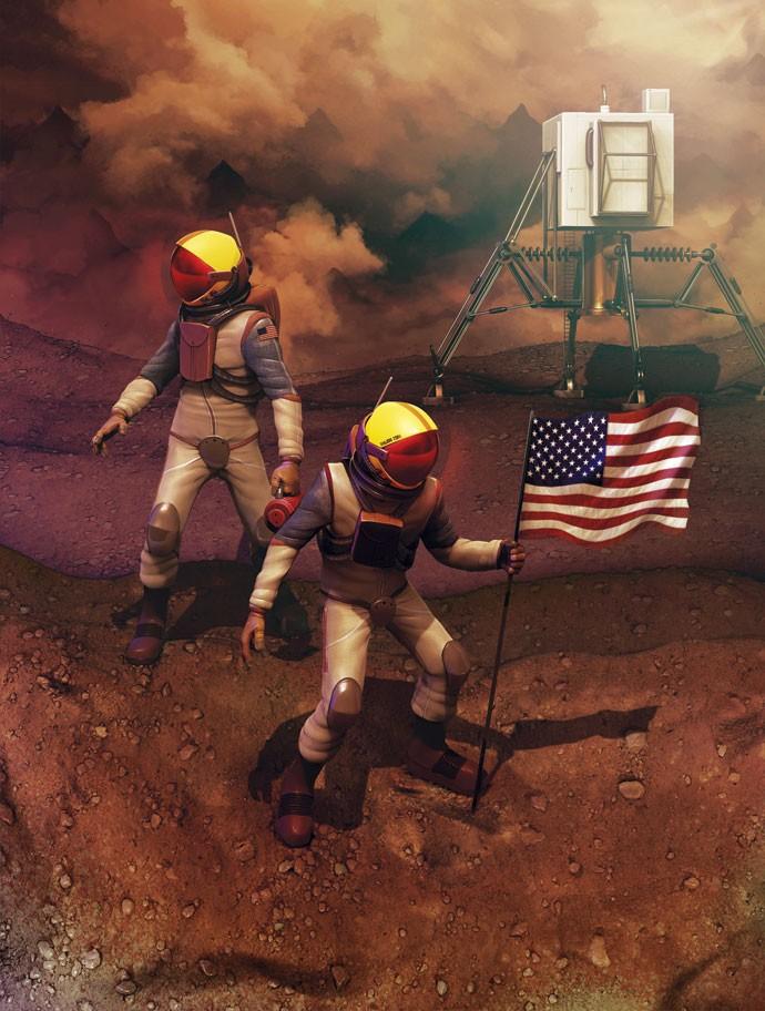 A Nasa garante que vai enviar astronautas para Marte até 2018... (Foto: Lambuja)