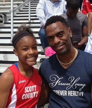 Tyson Gay e a filha Trinity Gay atletismo morte (Foto: Reprodução/Facebook)