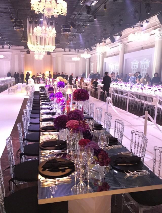 Mesas de banquete de 30 metros (Foto: QUEM)