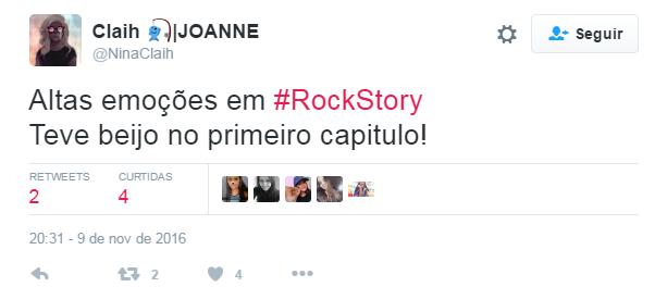 Comentários da estreia de Rock Story (Foto: Reprodução/Twitter)