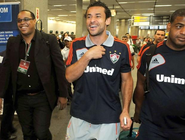 Fred, embarque do Fluminense (Foto: Alexandre Durão / Globoesporte.com)