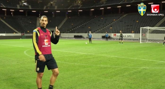 Ibrahimovic treino Suécia