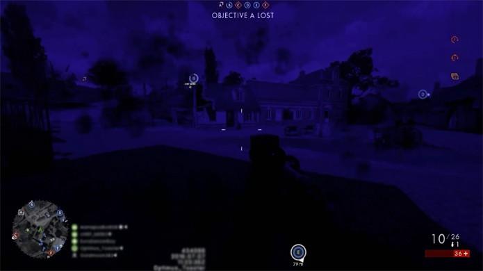 Em condições adversas a iluminação de Battlefield 1 pode virar um filtro azulado bizarro (Foto: Reprodução/YouTube)