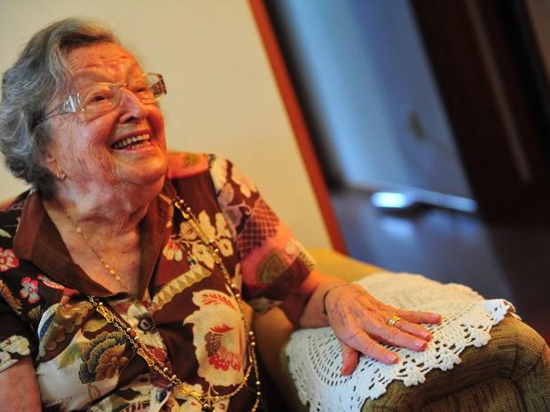 Elly Genro faleceu aos 93 anos na manhã desta quarta-feira (12) em Porto Alegre (Foto: Diego Vara/Agência RBS)