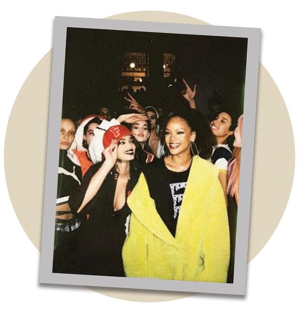 Ellen Rosa com Rihanna (Foto: Arquivo Vogue, Arquivo Pessoal, Tiago Petrik, Lorenzo Holder, Reprodução e Divulgação)