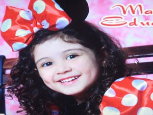 Maria Eduarda, 4 anos, morreu afogada em piscina de resort (Foto: Divulga&#231;&#227;o/Arquivo Pessoal)