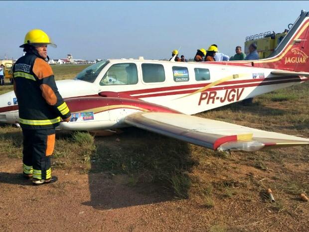 Acidente ocorreu no Aeroporto Marechal Rondon, em Várzea Grande (Foto: Durcy Arévalo/ Arquivo pessoal)