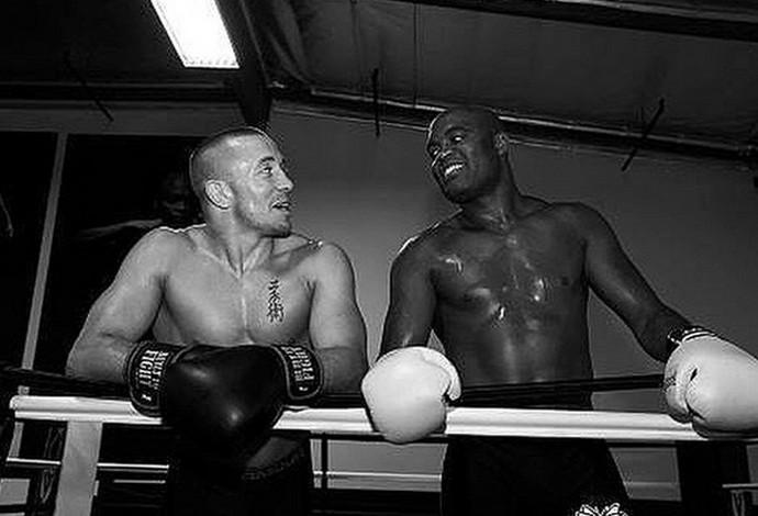 Georges St-Pierre e Anderson Silva ufc (Foto: Reprodução)