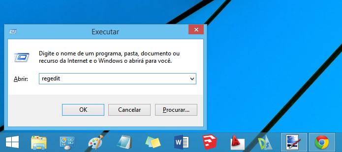 Executando o Registro do Windows (Foto: Reprodução/Helito Bijora)