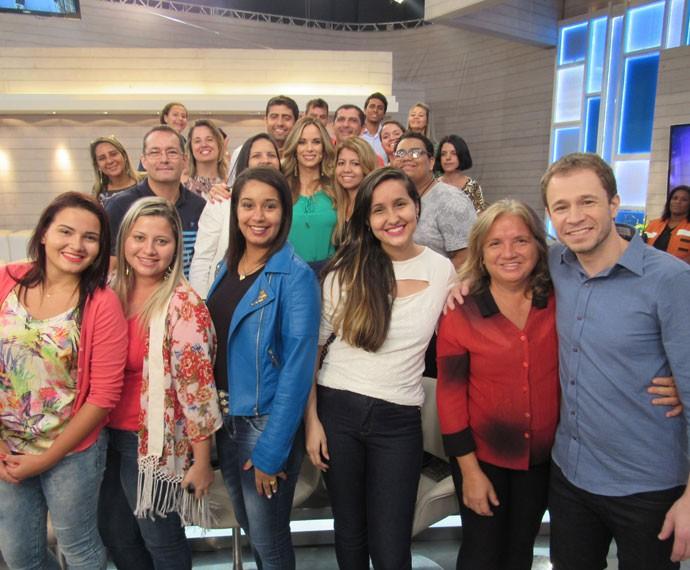 Mais apresentadores com a plateia nos bastidores  (Foto: Carolina Morgado/Gshow)