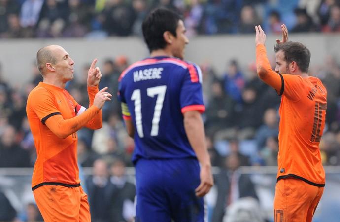 Robben e Van der Vaart Japão x Holanda (Foto: Reuters)
