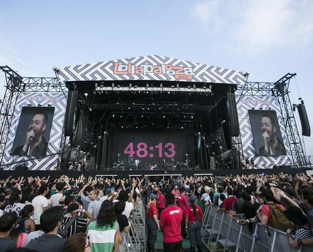 Banda Kasabian se apresenta no primeiro dia de Lollapalooza (Foto: Raphael Dias / Gshow)
