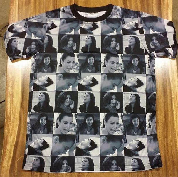 Camiseta em homenagem a Kim Kardashian (Foto: Instagram/Reprodução)