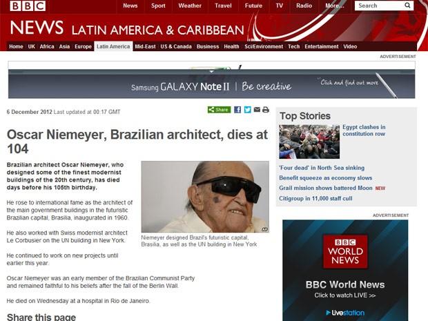 A BBC afirmou que Niemeyer projetou alguns dos mais belos prédios modernistas do século XX.  (Foto: Reprodução)