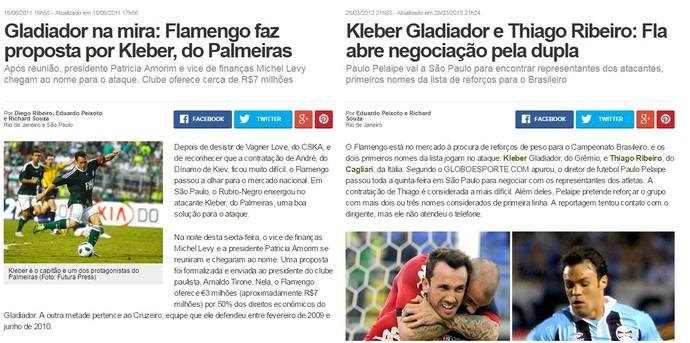 Kleber Gladiador no Flamengo prints (Foto: Reprodução)
