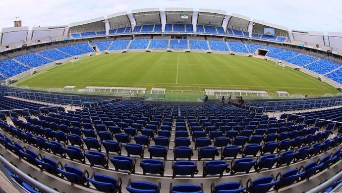 Estádio vai receber quatro jogos da Copa do Mundo, dentre eles, o clássico Uruguai e Itália (Foto: Canindé Soares)