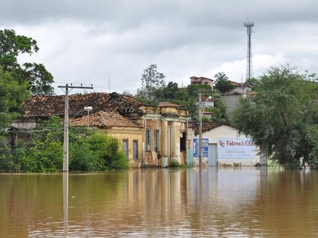 Enchente atingiu o Centro histórico da cidade e os Bairros Esplanada, Corredor, Arraial e a parte baixa do São JorgeA inundação atingiu o Centro histórico da cidade e os Bairros Esplanada, Corredor, Arraial e a parte baixa do São Jorge. (Foto: Divulgação/ASCOM)