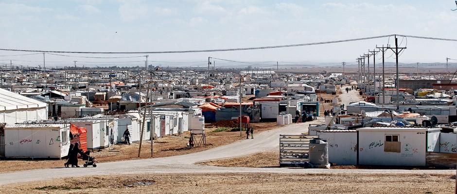 Campo de refugiados  de Za'atari (Foto: AHMAD ABDO/AFP/ÉPOCA)