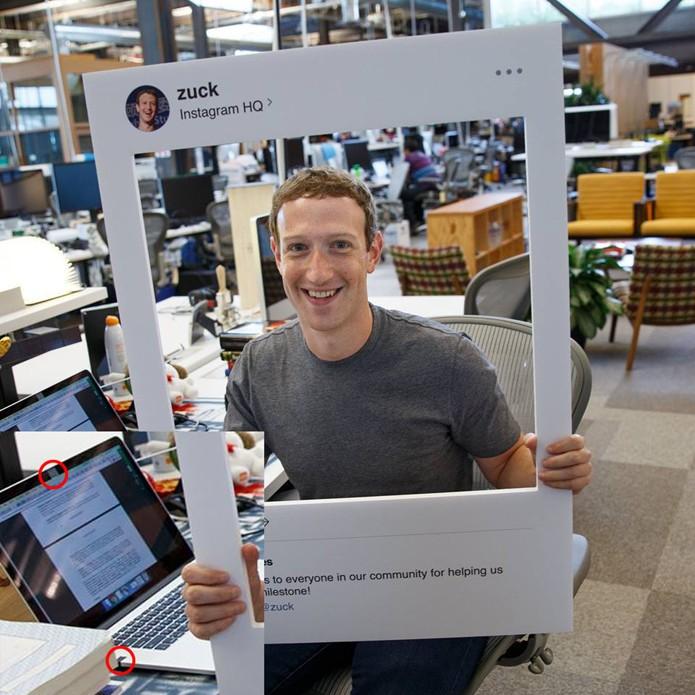 Foto de Zuckerberg mostra preocupação de CEO do Facebook com segurança (Foto: Reprodução/Facebook)