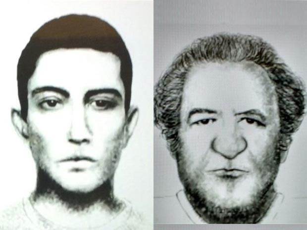 Retratos falados de suspeitos de atacar mulheres com seringas no Metrô (Foto: Divulgação/SSP)