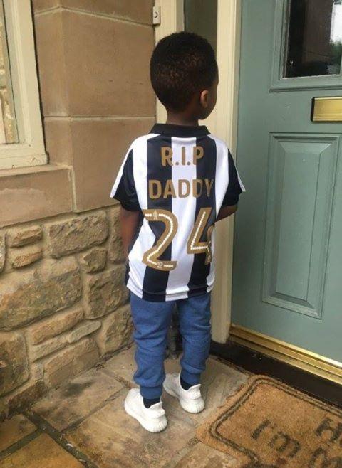 """BLOG: Ex-mulher de Tioté posta foto de filho de 3 anos com homenagem: """"RIP Daddy"""""""
