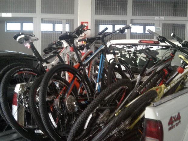 Bicicletas foram apreendidas pela Receita Federal em Poços de Caldas (MG) (Foto: Receita Federal)