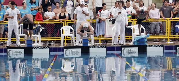 Natação Mogi das Cruzes Jogos Abertos 2012 renato okamoto touca branca (Foto: Cleomar MAcedo)