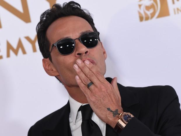 Marc Anthony em prêmio de música em Las Vegas, nos Estados Unidos (Foto: Valerie Macon/ AFP)