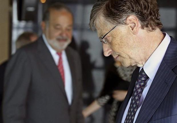 Bill Gates e Carlos Slim (Foto: Agência EFE)