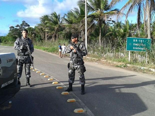 Polícia sergipana monta cerco para prender fugitivos da Bahia (Foto: Polícia Militar de Sergipe)