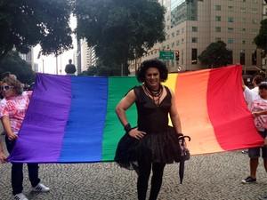 Eula Rochard, artista, quer que Dilma proteja grupo LGBT.  (Foto: Priscilla Souza)
