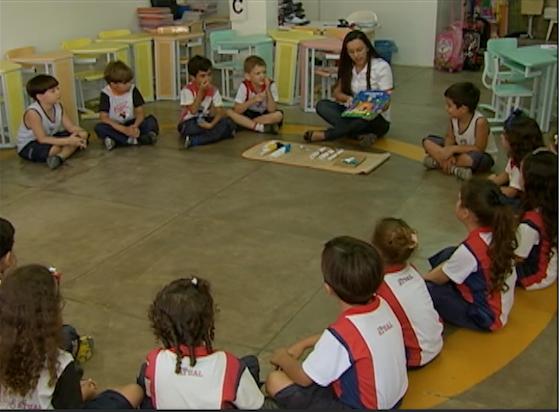 Atividades diferenciadas são realizadas com os alunos. (Foto: Reprodução/ TV Asa Branca)
