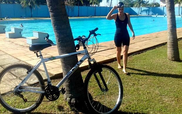 Karina Quadros está há uma semana do desafio no 'Eu Triatleta'  (Foto: Karina Quadros/Arquivo Pessoal)