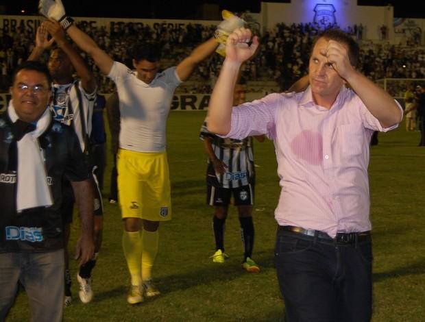 Luciano Silva, técnico do Treze (Foto: Jackson Rodinneli / TV Paraíba)