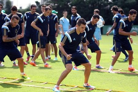 Lúcio Palmeiras Alan Kardec grupo Palmeiras treino (Foto: Cesar Greco/Ag Palmeiras/Divulgação)