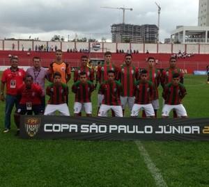 Time do Guaicurus na Copa São Paulo de futebol júnior (Foto: Lincoln Fonseca/Guaicurus)