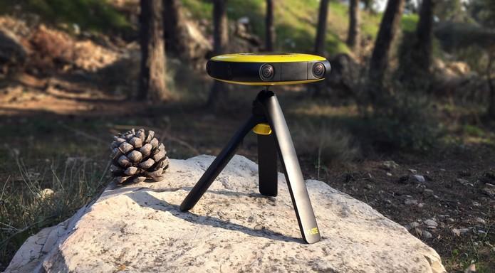 Comparada as grandes do mercado, a Vaze permite que usuário não profissionais tenham acesso a câmeras de realidade virtual. (Foto: Divulgação/HumanEye) (Foto: Comparada as grandes do mercado, a Vaze permite que usuário não profissionais tenham acesso a câmeras de realidade virtual. (Foto: Divulgação/HumanEye))