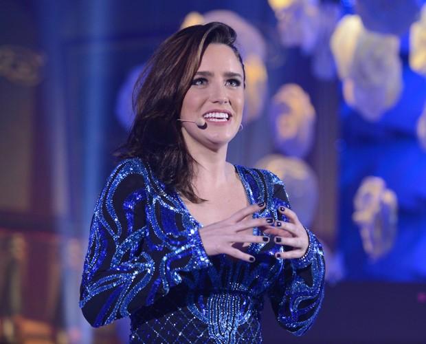 Fernanda Vasconcellos dá show com truque de mentalismo (Foto: Raphael Dias/Gshow)