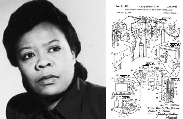 A afroamericana Marie Van Brittan Brown criou o primeiro sistema de vigilância doméstica (Foto: Wikimedia Commons, Google Patents)