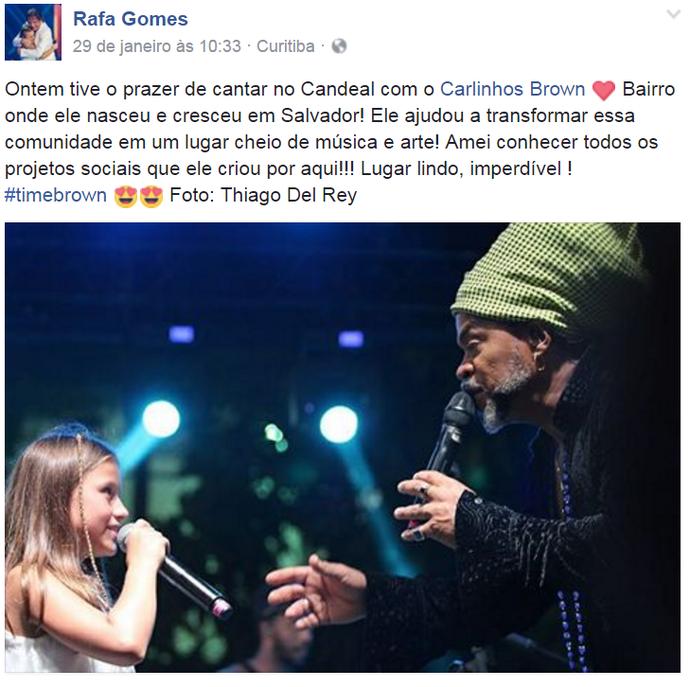 A cantora comemorou o passeio nas redes sociais (Foto: reprodução/internet)
