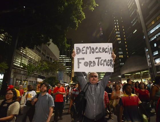 Protesto contra o presidente do Brasil, Michel Temer , em São Paulo (Foto: Cris Faga/CITIZENSIDE/Agência O Globo)