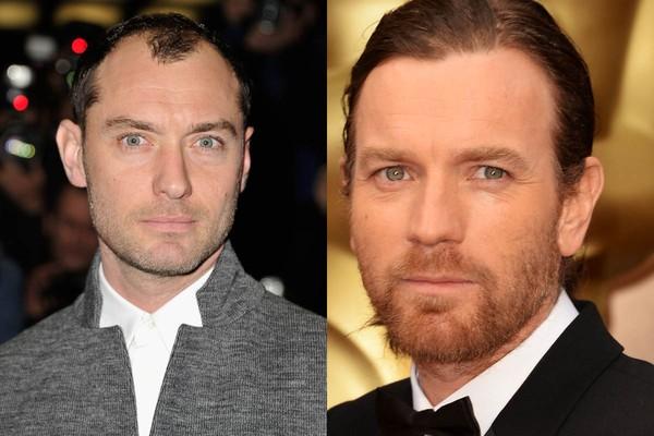 Em 1997, Jude Law e Ewan McGregor estrelaram a produção de teatro britânica Natural Nylon  - e dividiram um apartamento juntos. (Foto: Getty Images)
